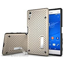 Sony Xperia Z5 Premium Case, Cocomii Cool Armor NEW [Heavy Duty] Premium Tactical Grip Kickstand Shockproof Hard Bumper Shell [Military Defender] Full Body Dual Layer Rugged Cover (Gold)