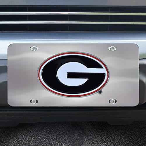 (Fanmats NCAA Georgia Bulldogs Die Cast License Platedie Cast License Plate, Chrome, 6