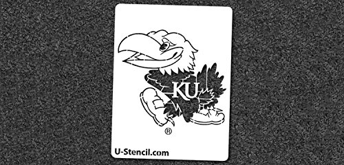 NCAA Kansas Jayhawks 04444 Mini Stencil Craft Kit 11 x 14.5 inches