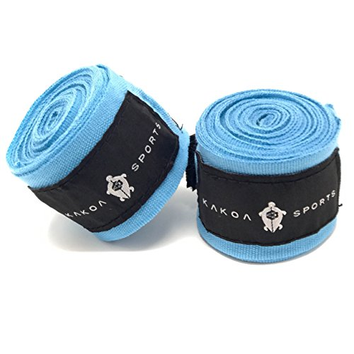 Kakoa Sports Boxing Hand Wraps – Mexican Style (Stretchy, Elastic), Pair | Perfect for Boxing, Kickboxing, Muay Thai…