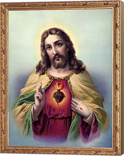 Sacred Heart 3 by Marcus Jules Canvas Art Wall Picture, Museum Wrapped with Light Brown Sides, 9 x 12 inches