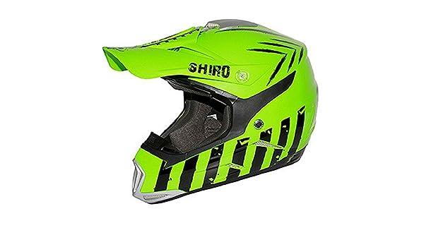 Casco moto cross SHIRO MX-305 SCORPION verde y negro Vert / Noir Talla:extra-large: Amazon.es: Deportes y aire libre