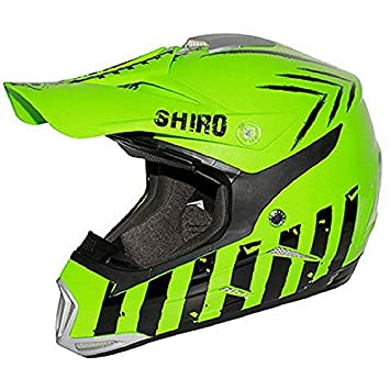 Casco moto cross SHIRO MX-305 SCORPION verde y negro Vert / Noir Talla: