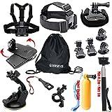 Greleaves 14 in 1 Outdoor Sports Accessories Bundles Kit for Gopro Hero Session,Hero 4 Black,Hero 4 Silver,Hero 1 2 3 3+ 4 Camera Accessory Kit for SJCAM SJ4000 SJ5000 SJ6000