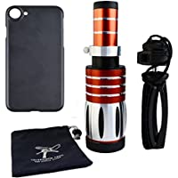 Apexel 50X Ultra Beast Magnifier Zoom Manual Focus Telephoto Telescope Phone Camera Lens Kit with High-end Tripod for iPhone 7