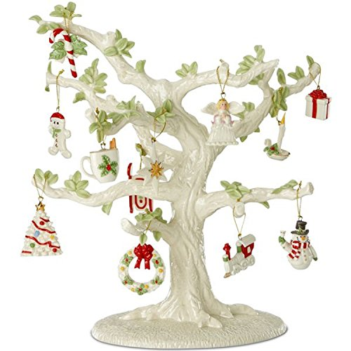 Lenox Tree with 202 Miniature Ornaments 18 Holiday Sets Winter Delights Snow Pals Autumn Favorites