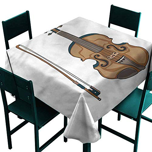 DONEECKL Wrinkle Resistant Tablecloth Violin Classic Italian Musical Art for Kitchen Dinning Tabletop Decoration W50 - Mid Violins Price