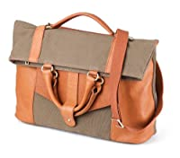 Canvas and Leather Three-Way Convertible Tote Bag / Messenger Bag, Large by Most Will