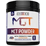 MCT Oil Powder with Prebiotic Acacia Fiber - ZERO Net Carbs - Keto Friendly Fat & Fiber Source for Sustained Energy, Appetite Control & Gut Health - Easy to Digest - For Coffee, Smoothies & More!