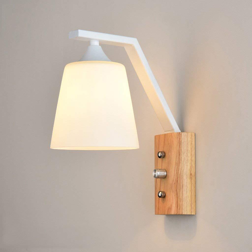 FuweiEncore Wandleuchte Schlafzimmer Wohnzimmer Eisen + Holz Einzelkopf Kreative Persönlichkeit Spiegel Scheinwerfer Wand Strahler (Farbe   -, Größe   -)