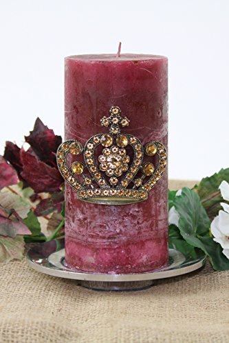 E GIFT ART Decorative Candle PIN Crystal Crown (Amber)