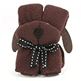 SODIAL(R) For Wedding Party Ornament Puppy Pet Dog Shaped cloth Towel Coffee