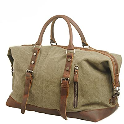 iMaySon(TM) Men/Women's Vintage Canvas Leather Business Schoolbag Shoulder Crossbody Messenger Bag
