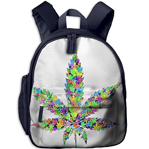 Cool Cannabis Weed Children Bag Design Student Backpack Cute