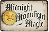 Item 10013 Vintage Style Halloween Moonlight Plaque