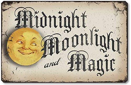Fairy Freckles Studios Item 10013 Vintage Style Halloween Moonlight Plaque ()