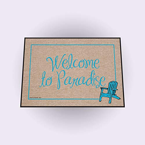 High Cotton Outdoor Mat, Welcome to Paradise (Patio Themed Beach)