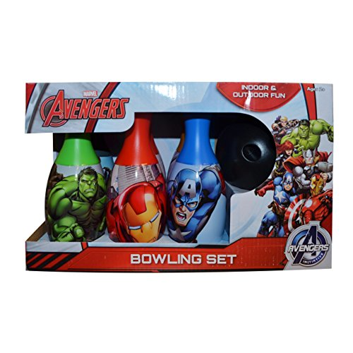 Character Avengers 'Heroes' 7 Piece Bowling Set Plastic Toys