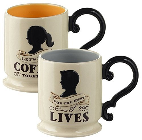 For the Rest of Our Lives Couples Coffee Mug His Hers Set of 2 Mugs by Grasslands Road