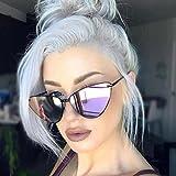 Franterd Sports Outdoor Sunglasses Eyewear- UV Glasses Sunglasses - Vintage Cateye Frame Shades Acetate Frame Transparent Candy Color Unisex Sunglasses (F)
