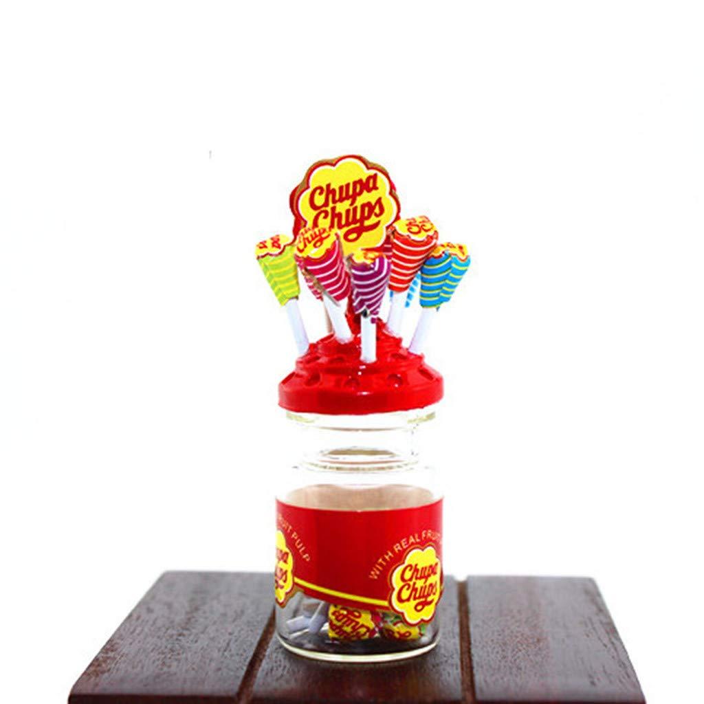 Amazon.com: NszzJixo9 1:12 Miniature Colorful Lollipop Soll ...