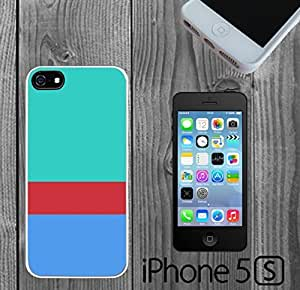 Blue with Burgandy Stripe Custom made Case/Cover/skin FOR iPhone 5/5s