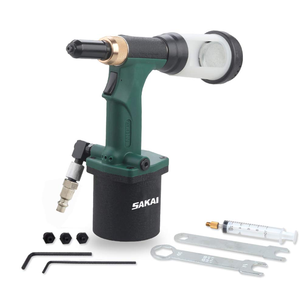SAKAI Pneumatic Hydraulic Pulling Rivet Gun Automatic Suction Rivet Air Rivet Tool