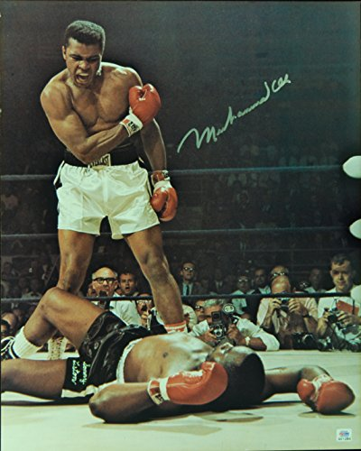 Muhammad Ali Signed Photo (Muhammad Ali Autographed/Signed 16x20 Photo Standing Over Liston PSA/DNA 131486)