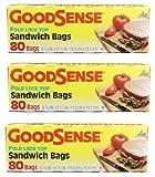 Good Sense Fold Lock Top Sandwich Bags 24/80ct Boxes Per Case