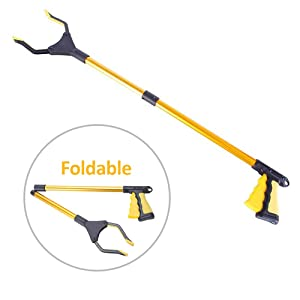 """Grabber Reacher Tool for Elderly,Folding Pick up Tool,32"""", Pick up Tools Can Effectively Help The Elderly Reaching Tool Trash Picker .Trash Picker Tool.Extender Gripper Tool with Rotating Gripper"""