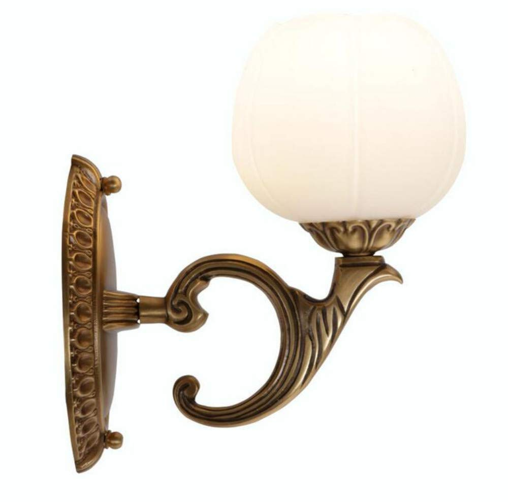 Wandlampe, Ganz Aus Kupfer, Schlafzimmer, Nachttischlampe, Wohnzimmer, Hintergrundwand, Kunstmarmorlampe, Gang, Flur, Led-Lampe
