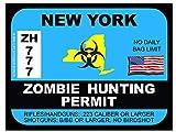 New York Zombie Hunting Permit(Bumper Sticker)