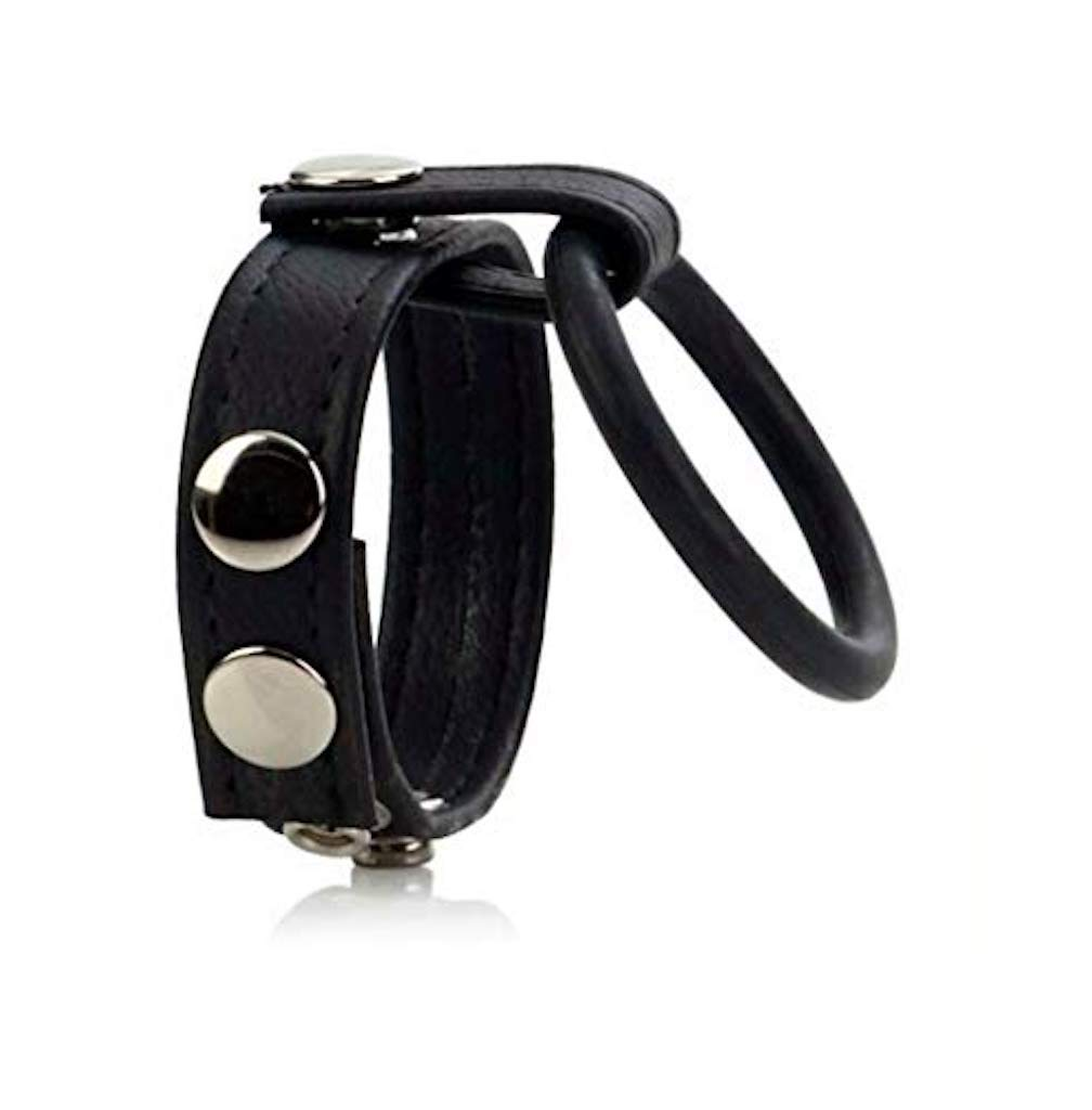 deepwater Male Adjustable Leather Strap with Ring Enhancer Spreader Importance9321