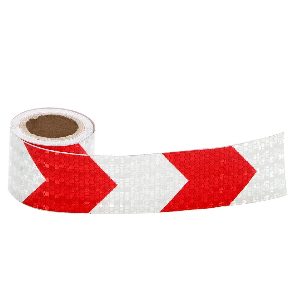 CALAP-STORE - 5cmx300cm Arrow Reflective Tape Protective Car Stickers Safety Warning Reflective Adhesive Tape For Truck Motorcycle Bicycle