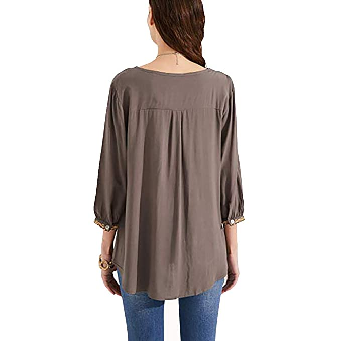 Amazon.com: AK - Blusa de verano para mujer, estilo bohemio ...