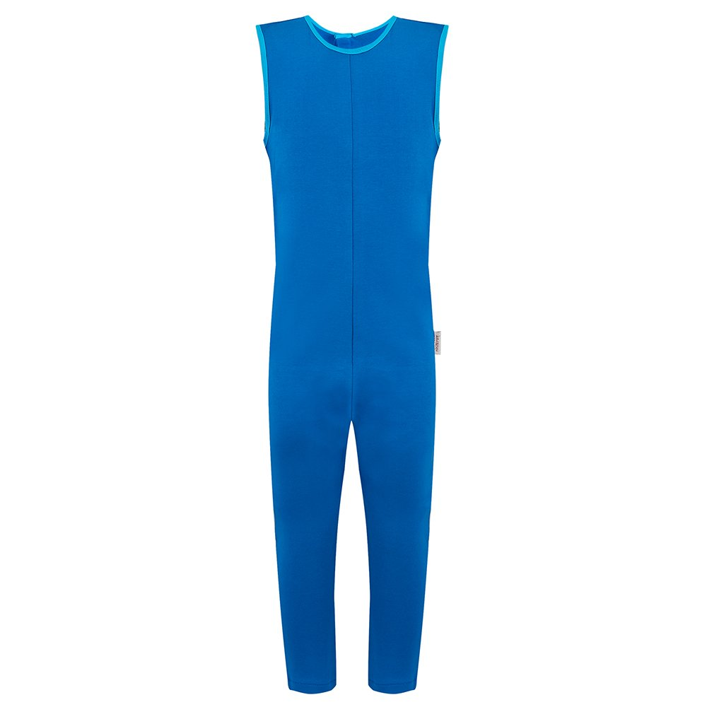 Special Needs Unisex Sleeveless Button Back Jumpsuit - Kingfisher Blue (5-6 yrs)