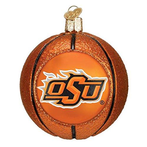 OKLAHOMA STATE COWBOYS BASKETBALL GLASS ORNAMENT 3'' (Basketball Cowboys State Oklahoma)