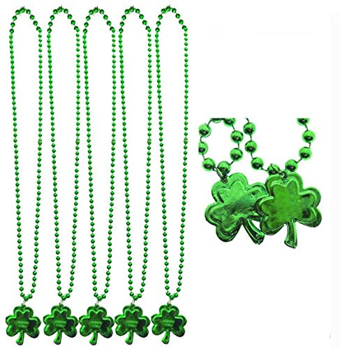 IDOXE Green Shamrock and Ball St. Patrick's Day Bead Necklaces 33