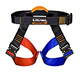 edelweiss harness - Fusion Climb Concerto Color Coded Half Body Harness Black M-XL Quick Release Buckles Climbing Gym