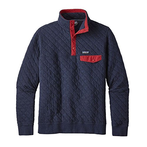 Patagonia Men's Cotton Quilt Snap-T Pullover (Small, Navy Blue) (Patagonia Mens Cotton Quilt Snap T Pullover)