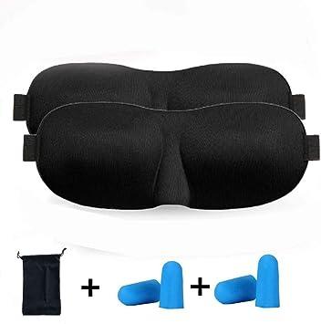 Antifaz para Dormir,Sleep Mask,3D Anti-Luz Mascara para Dormir, Fabricado con Espuma De Memoria con Ajustable Correa Adecuados (Negro): Amazon.es: ...