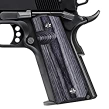 1911 Full Size Dymond Wood Grips, Free Screws included, Mag Release, Ambi Safety Cut, Cool Hand Brand