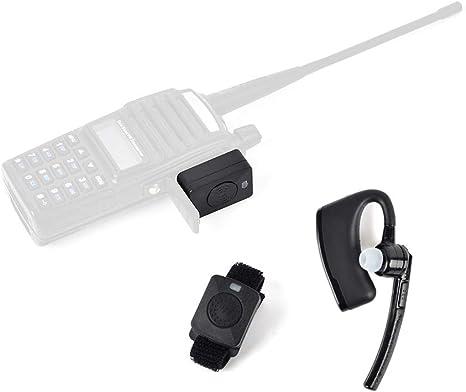 Amazon Com Twayrdio Walkie Talkie Bluetooth Headset Earpiece With 2 Pin Wireless Dongle And Ptt Button For Kenwood Tk 2100 Tk 2160 Tk 3100 Baofeng Linton Two Way Radio Gps Navigation