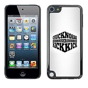 Paccase / SLIM PC / Aliminium Casa Carcasa Funda Case Cover para - Tough Man Usa Quote Funny Martial Arts - Apple iPod Touch 5