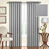Eclipse Samara Blackout Energy-Efficient 42″x 54″ Curtain Panel, Set of 2 – Gray For Sale