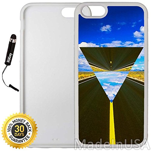 Highway Triangle (Custom iPhone 6 Plus/6S Plus Case (Hipster Triangle Highway Infinity) Edge-to-Edge Rubber White Cover with Shock and Scratch Protection | Lightweight, Ultra-Slim | Includes Stylus Pen by INNOSUB)