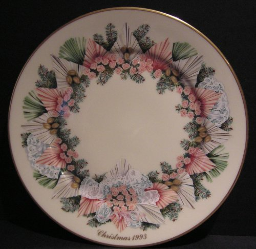 (Lenox Colonial Christmas 1993 Georgia Wreath Plate)