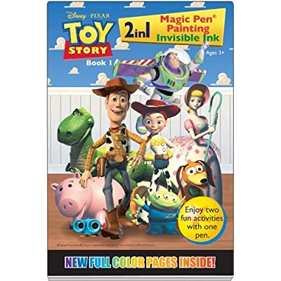 Toy Story Magic Pen Painting Invisible Ink Book 1 - Includes Pen: Toys & Games