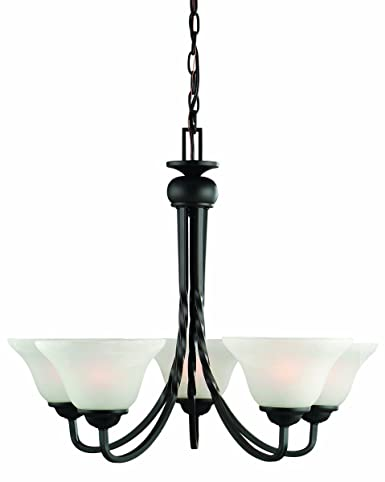 Design House 514885 Drake 5 Light Chandelier, Oil Rubbed Bronze