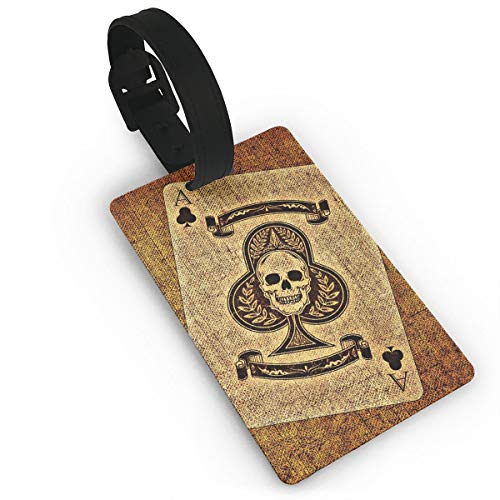 FJDSK12 Plum Card A Skull Luggage ID Tags Carry On Cards Expression Luggage Tag Travel Card Bag Label Card Identity Card Baggage - Distinction Plum